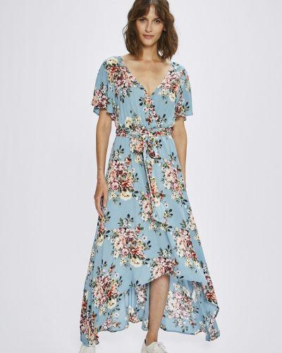 Платье миди с запахом с поясом Answear