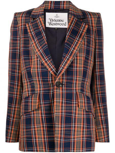 Синий пиджак с карманами на пуговицах Vivienne Westwood
