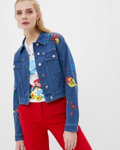 Синяя джинсовая куртка Love Moschino