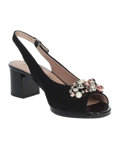 Czarne sandały Pitillos