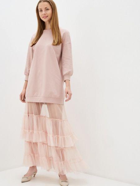 Платье платье-толстовка розовое Imperial