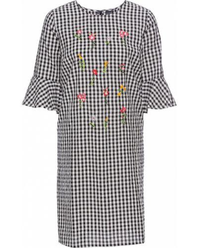 Платье с цветочной вышивкой с рукавами Bonprix