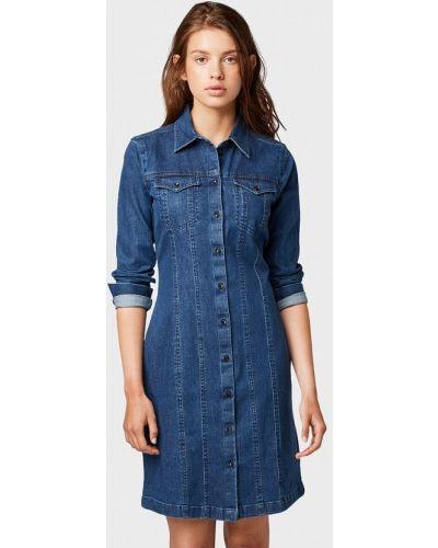 Джинсовое платье осеннее индийский Tom Tailor Denim