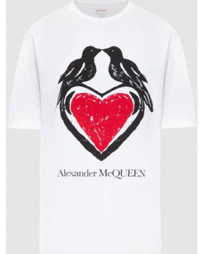 Белая футболка Alexander Mcqueen