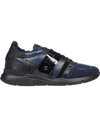 Кожаные кроссовки - синие John Richmond