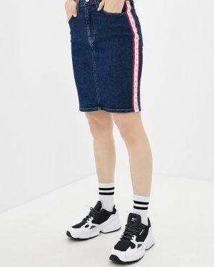 Джинсовая юбка синяя Calvin Klein Jeans