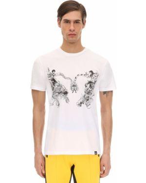 Prążkowany biały t-shirt bawełniany Dim Mak Collection