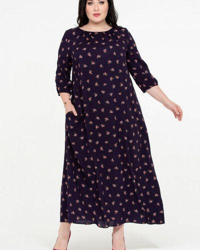 Повседневное платье весеннее фиолетовый Intikoma