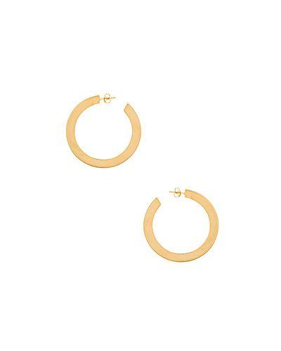 Серьги-кольца золотого цвета Joolz By Martha Calvo