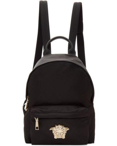 Кожаный рюкзак на молнии нейлоновый Versace