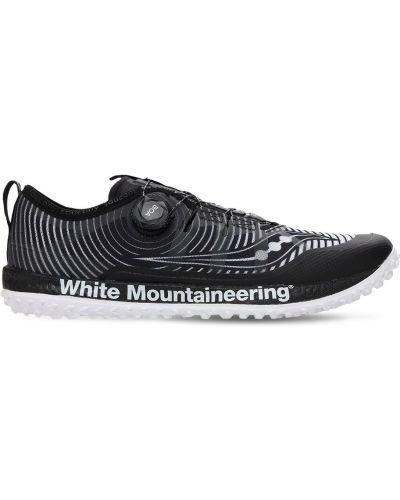Белые кроссовки на шнуровке Saucony