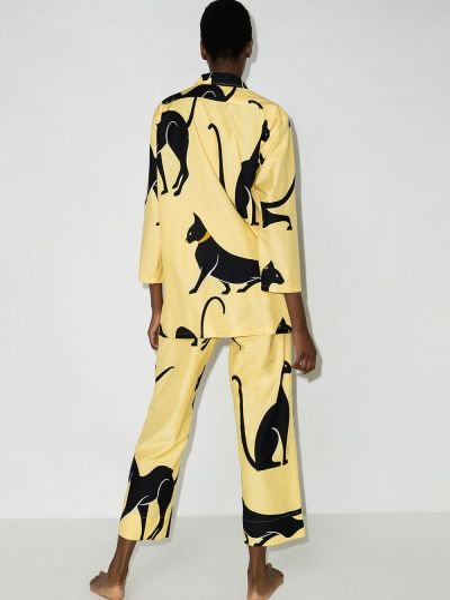 Шелковая пижама - желтая Olivia Von Halle