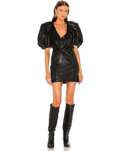 Sukienka skórzana - czarna Lpa