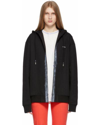 Czarna bluza długa z kapturem z długimi rękawami Ader Error