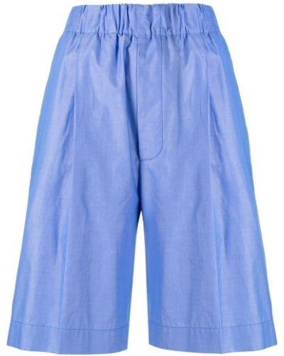 Синие хлопковые шорты свободного кроя Jejia