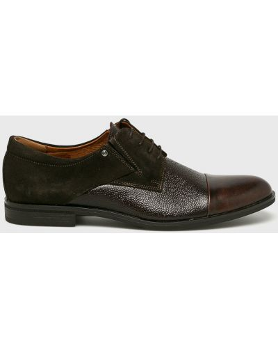 Кожаные туфли на шнуровке коричневый Conhpol
