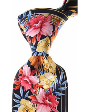 Różowy krawat z jedwabiu Pancaldi