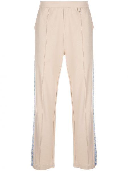 Beżowe spodnie bawełniane Drole De Monsieur