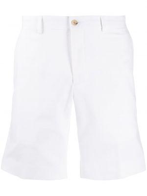 Prosto biały bawełna szorty z kieszeniami Ralph Lauren