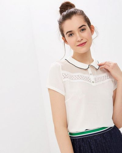 Блузка с коротким рукавом белая Naf Naf
