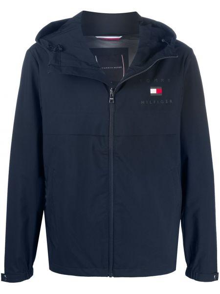 Классическая синяя облегченная куртка с капюшоном на молнии Tommy Hilfiger