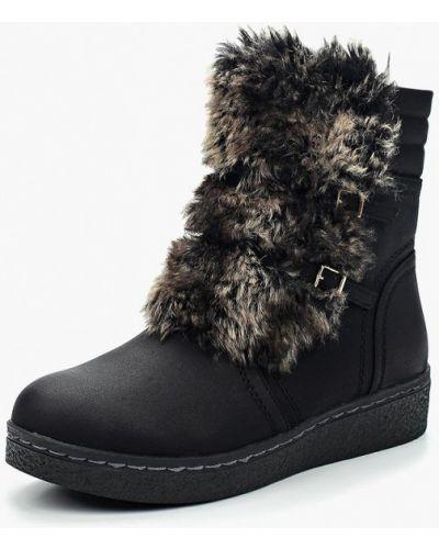 Ботинки замшевые черный Vivian Royal