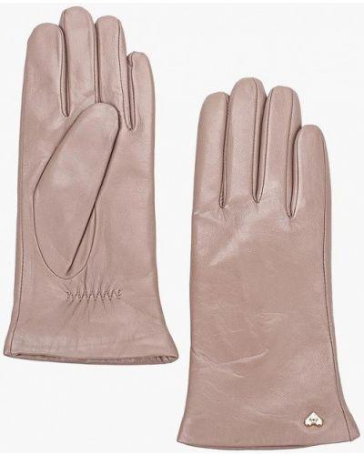 Кожаные перчатки розовый Fabretti