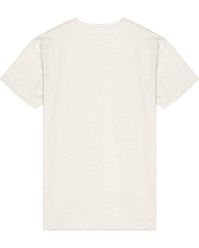 Biały bawełna bawełna t-shirt z kołnierzem John Elliott
