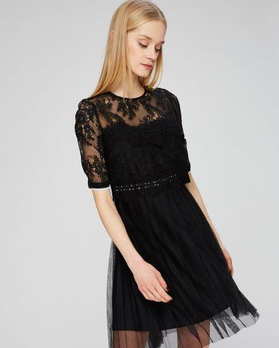 Черное платье мини Guess Jeans