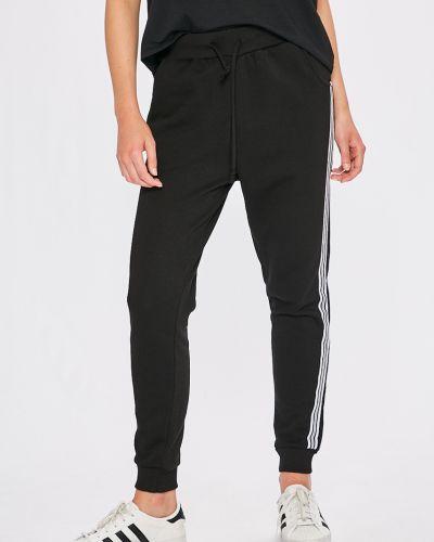 Черные брюки с поясом с нашивками Miss Poem