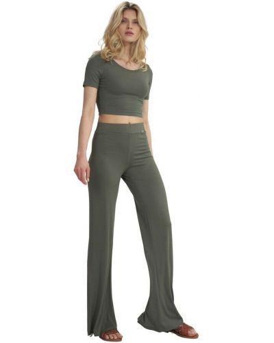 Zielone spodnie dzwony Figl
