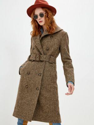 Коричневое зимнее пальто Polo Ralph Lauren