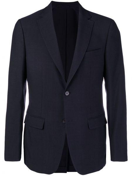 С рукавами синий шерстяной костюмный костюм Salvatore Ferragamo