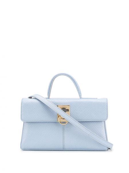 Niebieska torebka crossbody skórzana Cafuné
