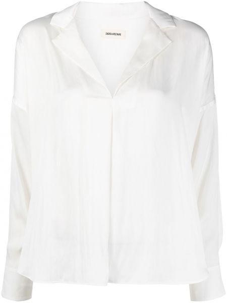 Прямая с рукавами блузка с воротником Zadig&voltaire