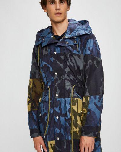Куртка с капюшоном с узором прямая Diesel