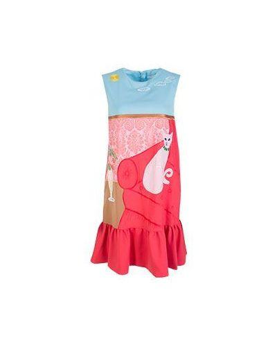 Вечернее платье с баской с вышивкой Vivetta