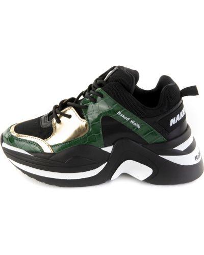 Zielone sneakersy skorzane Naked Wolfe
