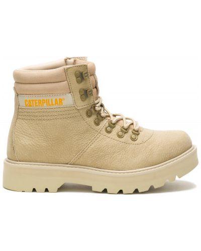 Кожаные ботинки - бежевые Caterpillar