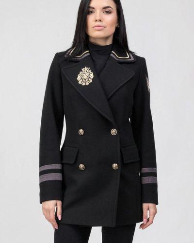 Черное пальто двубортное Raslov