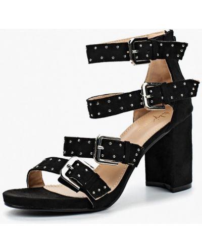 Черные босоножки на каблуке Sergio Todzi