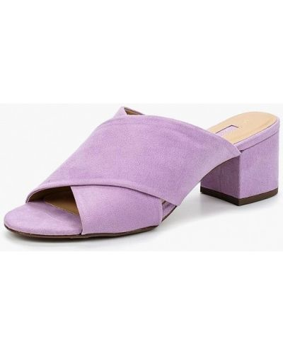 Сабо фиолетовый на каблуке Dorothy Perkins
