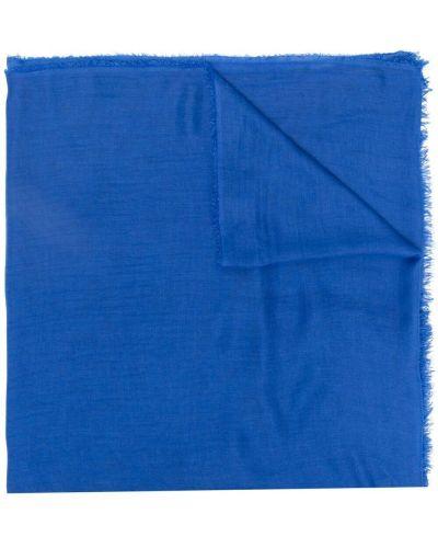 Klasyczny niebieski szalik z jedwabiu Faliero Sarti