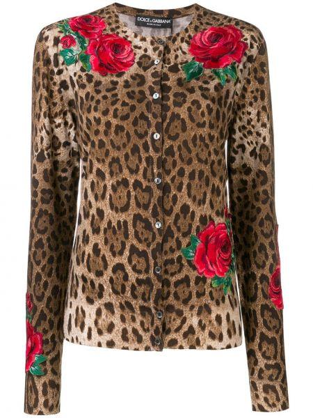 Кардиган леопардовый длинный Dolce & Gabbana