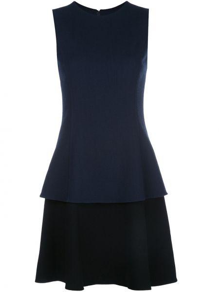 Расклешенное платье без рукавов с вырезом на молнии Oscar De La Renta