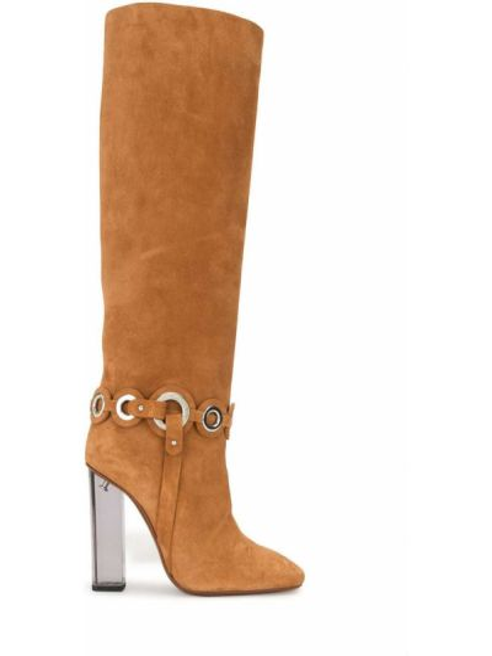 Кожаные коричневые сапоги Emilio Pucci Pre-owned
