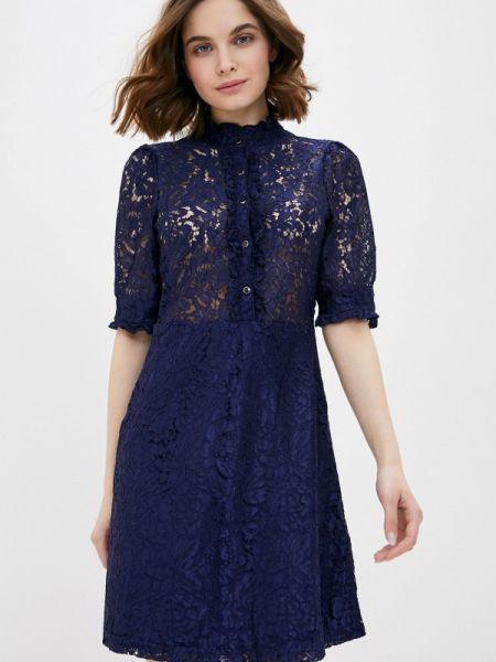 Платье прямое синее Incity