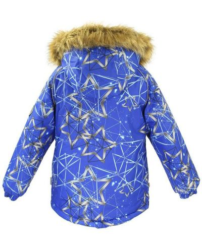 Зимняя куртка мембрана синий Huppa
