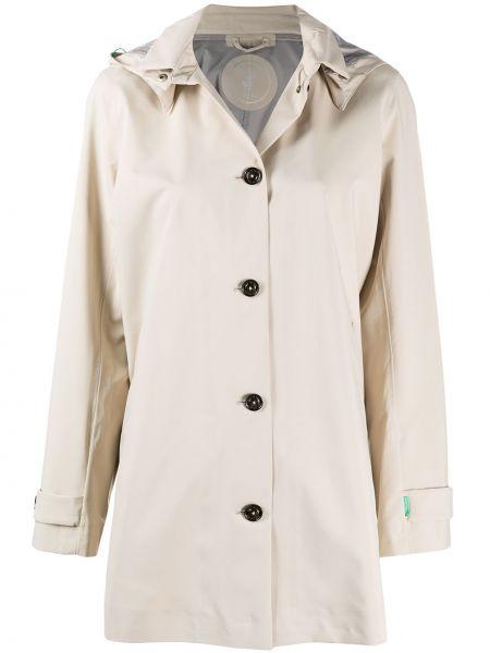 Длинное пальто с капюшоном из плащевки с воротником Save The Duck