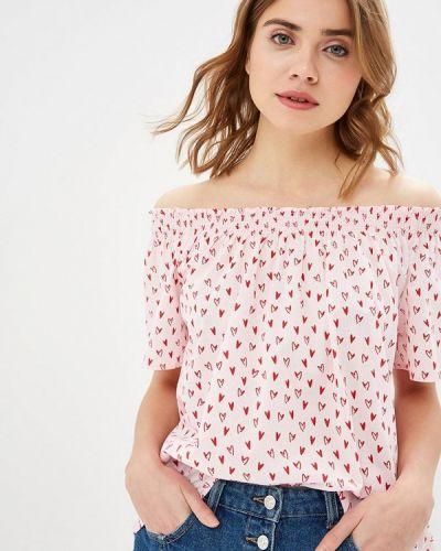 Розовая блузка с открытыми плечами United Colors Of Benetton